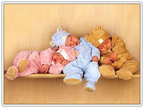 colorful-babies-sleeping-together